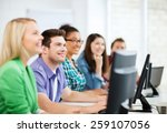 education concept   students... | Shutterstock . vector #259107056