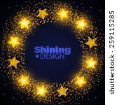 shining yellow stars vector... | Shutterstock .eps vector #259115285