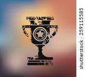 trophy design on blur...