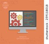 website optimisation design on... | Shutterstock .eps vector #259118018