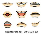 vector human lips  male  | Shutterstock .eps vector #25912612
