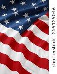Small photo of Closeup of ruffled American flag