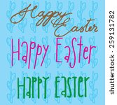 different easter font types in... | Shutterstock .eps vector #259131782