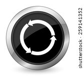 refresh black icon reload black ... | Shutterstock . vector #259141352