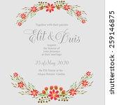wedding invitation card | Shutterstock .eps vector #259146875
