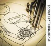 industrial drawing detail and... | Shutterstock . vector #259150706