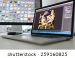 photographers computer with... | Shutterstock . vector #259160825