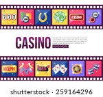 film strips with gambling ... | Shutterstock .eps vector #259164296