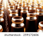 background made from empty beer ... | Shutterstock . vector #259172606