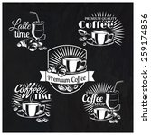 vector set of coffee shop logos ...   Shutterstock .eps vector #259174856