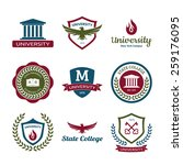 university and college school... | Shutterstock .eps vector #259176095