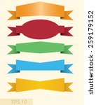 set of different color banners... | Shutterstock .eps vector #259179152