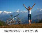 woman practicing yoga  relaxing ... | Shutterstock . vector #259179815