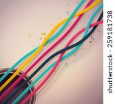 colorful guitar strings  eps 10 | Shutterstock .eps vector #259181738