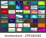 variety of 42 horizontal... | Shutterstock .eps vector #259184282