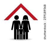 family design over white... | Shutterstock .eps vector #259189568