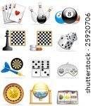 games icons | Shutterstock .eps vector #25920706