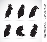 Vector Image Of An Chicken Hea...