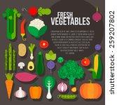 fresh vegetables vector concept.... | Shutterstock .eps vector #259207802