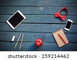 workplace of a creative man | Shutterstock . vector #259214462