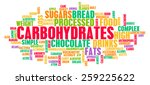 carbohydrates weight loss... | Shutterstock . vector #259225622