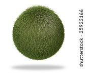 fluffy  grass like sphere | Shutterstock . vector #25923166
