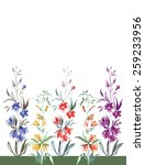 multicolored small flowers of... | Shutterstock . vector #259233956