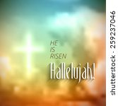 Easter Christian Motive With...