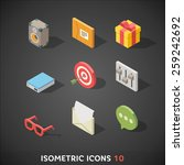flat isometric icons set 10 | Shutterstock .eps vector #259242692