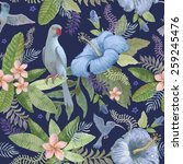seamless  floral pattern from... | Shutterstock . vector #259245476