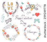 romantic collection with... | Shutterstock .eps vector #259249778