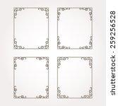 set of four decorative frames... | Shutterstock .eps vector #259256528