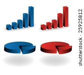 3d colored graphs | Shutterstock .eps vector #25925812