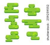 set of vector pixel islands in...