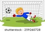 soccer football goalie keeper... | Shutterstock .eps vector #259260728