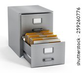 Filing Cabinet With A Single...