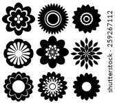 set of floral templates in... | Shutterstock .eps vector #259267112