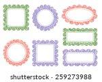 set of scalloped frames | Shutterstock .eps vector #259273988