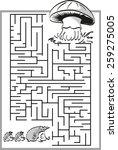 Mushroom Labyrinth  Maze With ...