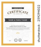 certificate template  | Shutterstock .eps vector #259294022