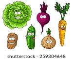 cartoon fresh vegetables...