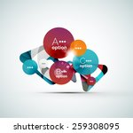 abstract step infographic... | Shutterstock .eps vector #259308095