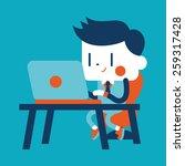 character illustration design.... | Shutterstock . vector #259317428