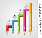 education pencil option... | Shutterstock .eps vector #259319192