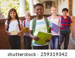 portrait of smiling little... | Shutterstock . vector #259319342