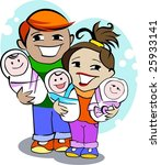 happy young family | Shutterstock .eps vector #25933141