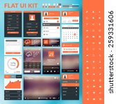 set of flat design ui elements... | Shutterstock .eps vector #259331606