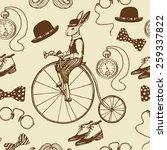 hand drawn vintage gentleman... | Shutterstock .eps vector #259337822
