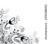 vector flower background | Shutterstock .eps vector #259338092