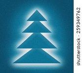 christmas tree holiday card... | Shutterstock . vector #259349762